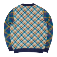 Double Plaid Mohair Cardigan