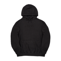 Classic Logo Embroided Hoodie Washed Black