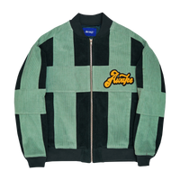 Chenille Patch Coduroy Jacket  Green