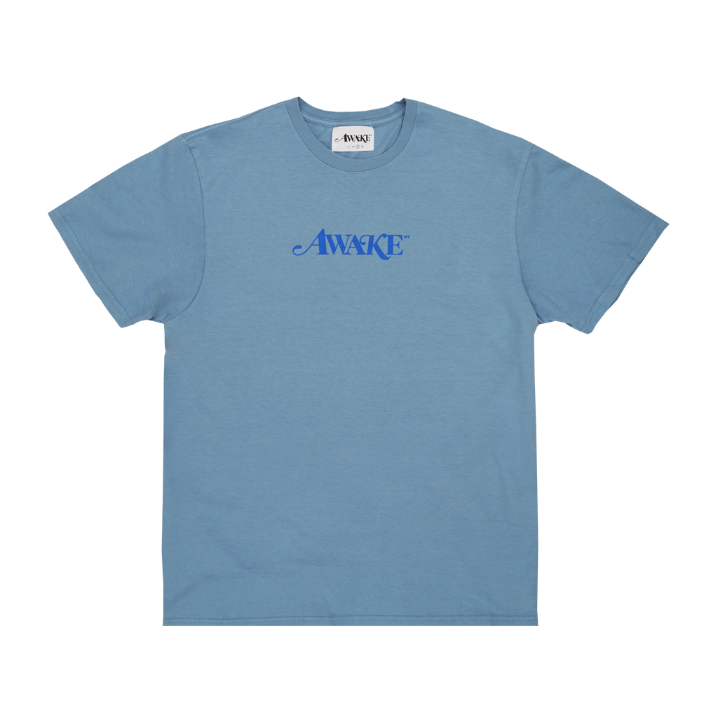 Awake Classic Logo T-Shirt Washed Blue