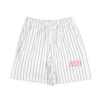 White Pinstripe Shorts