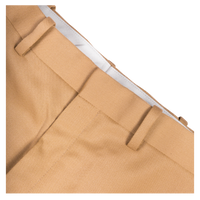 Wide Leg Pleated Trousers Beige