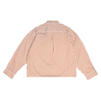 Striped Cropped Shirt Brown