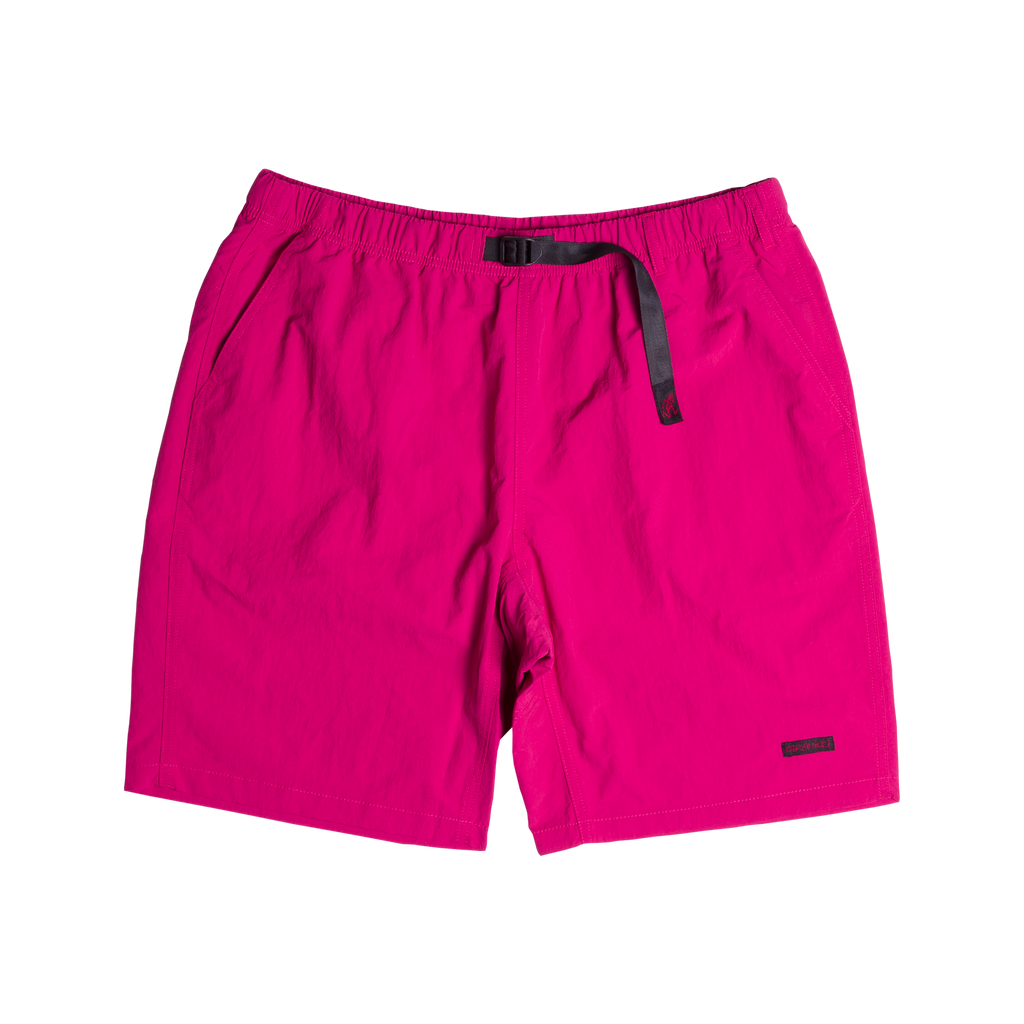Shell Packable Nylon Shorts Raspberry