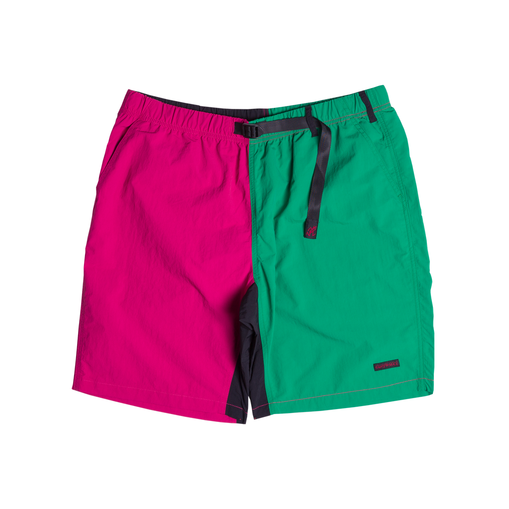 Shell Packable Nylon Shorts Raspberry & Kelly