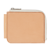 Leather L Purse Tan