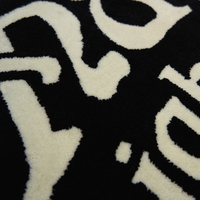 Acrylic Rug Black/Cream