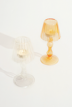 Retro Lamp and Candle Holder