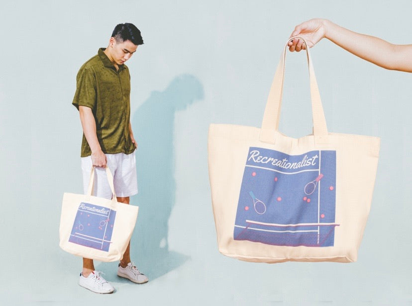 Tennis Court Oversized Tote