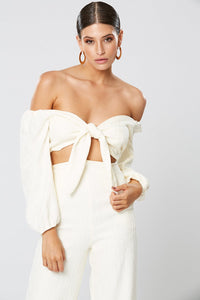 Fortune Off The Shoulder Top Ivory
