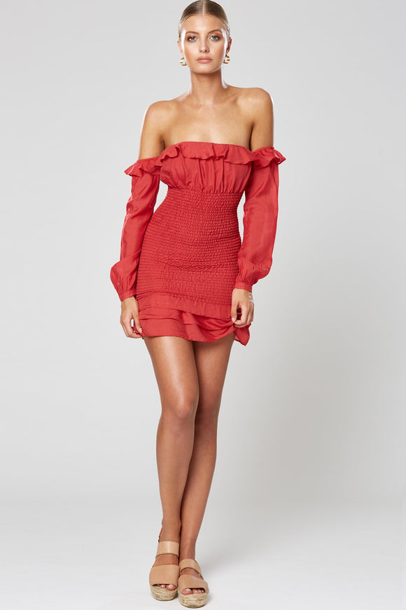 Halo Dress Red