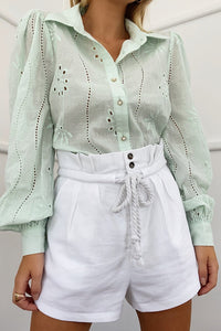 Knowles Print Blouse - Mint