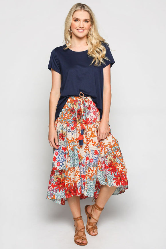 Jacinta Skirt in Rose Riviera