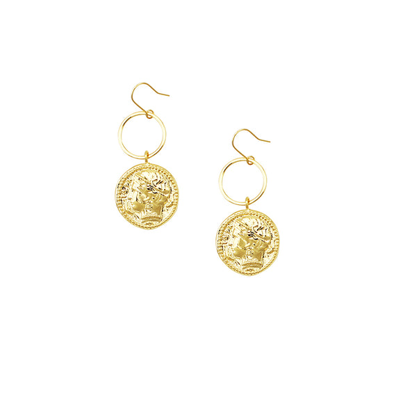 Helena Coin Earrings