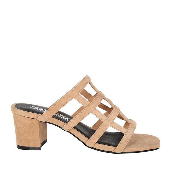 Spencer Mule Lt Tan Suede