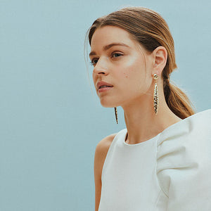 Dania Hammered Drop Earrings
