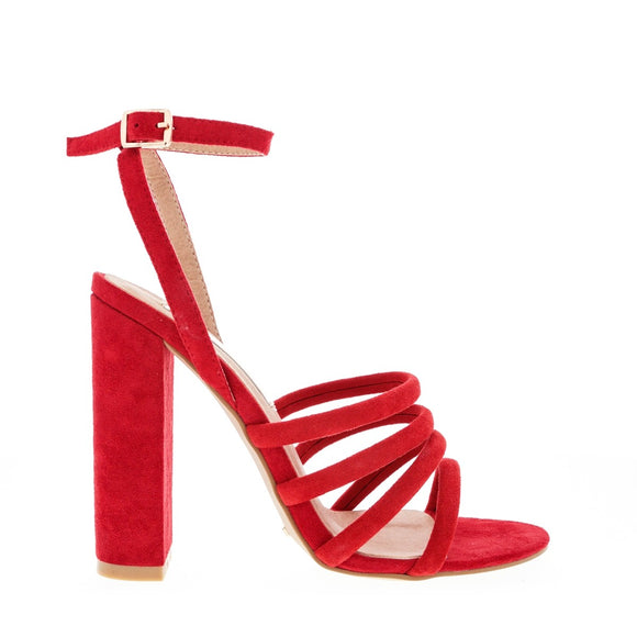 Frida Red Suede Heel