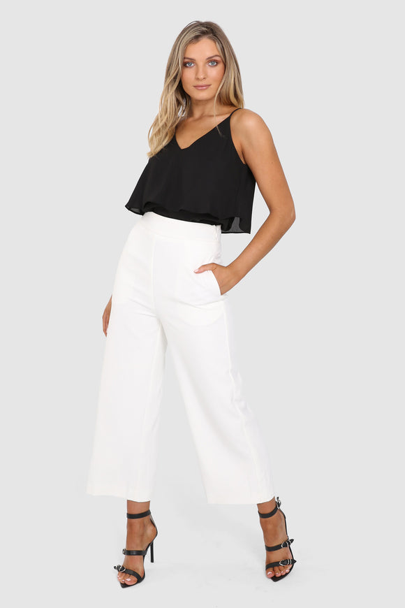 Kendra Culottes in White