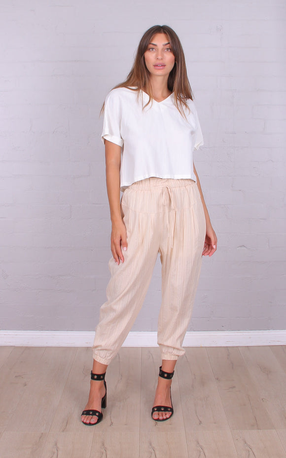 Drop Crotch Pant Beige