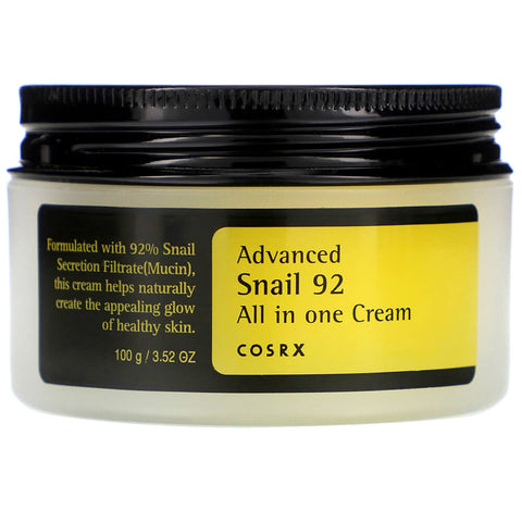 Cosrx Advanced Snail 92 All in one Cream for aging skin oily combination acne scars k beauty world