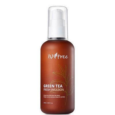 Isntree Fresh Green Tea Emulsion moisturizer for oily acne redness sensitive skin k beauty world