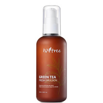 Isntree Green Tea Fresh Emulsion combination oily acne redness irritated blemished skin k beauty world