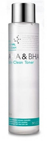 Mizon AHA & BHA Daily Clean Toner chemical exfoliant rough skin k beauty world