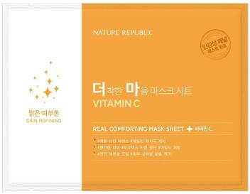 Nature Republic Real Comforting Mask Sheet Vitamin C korean hydration dry skin k beauty world