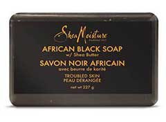 Shea Moisture African Black Soap Bar with Shea Butter cleanser for dry irritated skin k beauty world