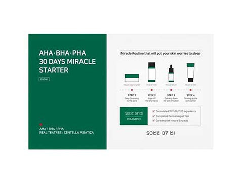Some By Mi AHA BHA PHA 30 Days Miracle Starter Kit for acne k beauty world