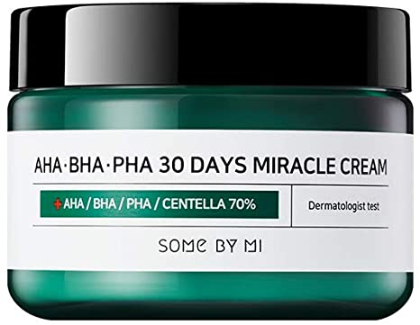 Some By Mi AHA BHA PHA 30 Days Miracle Cream acne prone oily blemish blackheads breakouts routine k beauty world