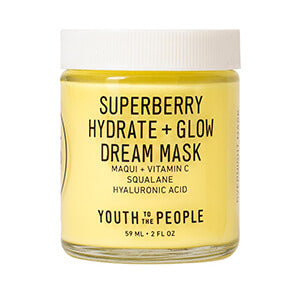 Youth To The People Superberry Hydrate + Glow Dream Mask overnight sleep mask k beauty world