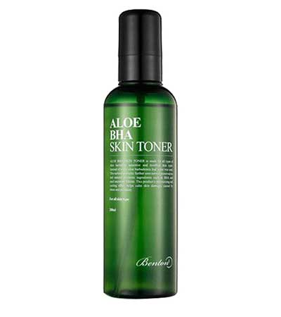 Benton Aloe BHA Skin Toner exfoliating salicylic acid acne korean k beauty world