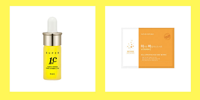 Vitamin C Anti aging Korean skincare Liz K Serum Nature Republic Mask K Beauty World