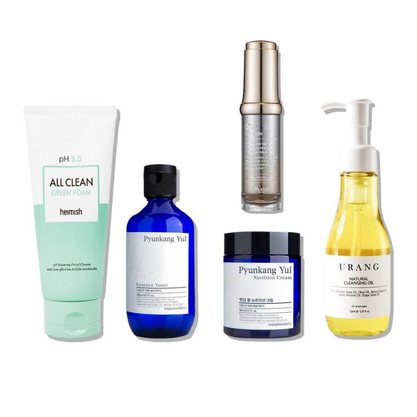 5-Step Korean Skin Care Set For Dry Skin