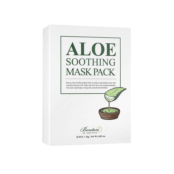 Benton Aloe Soothing Mask Pack (10 Packs) - K Beauty World