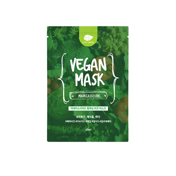 Happy Vegan Madecassoside Relaxing Vegan Mask (5Pack) - K Beauty World