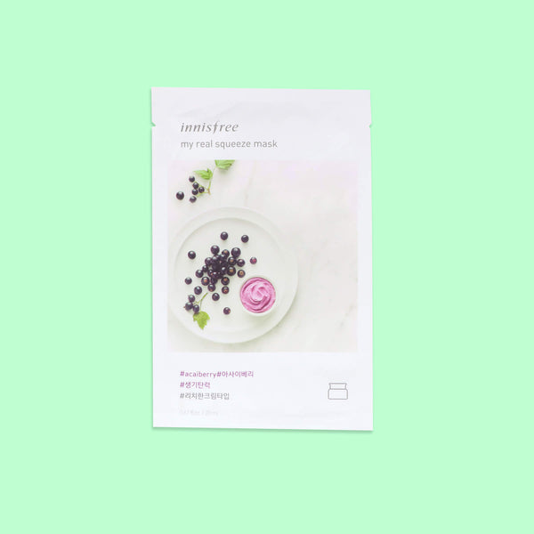 Innisfree My Real Squeeze Mask - Acai Berry - K Beauty World