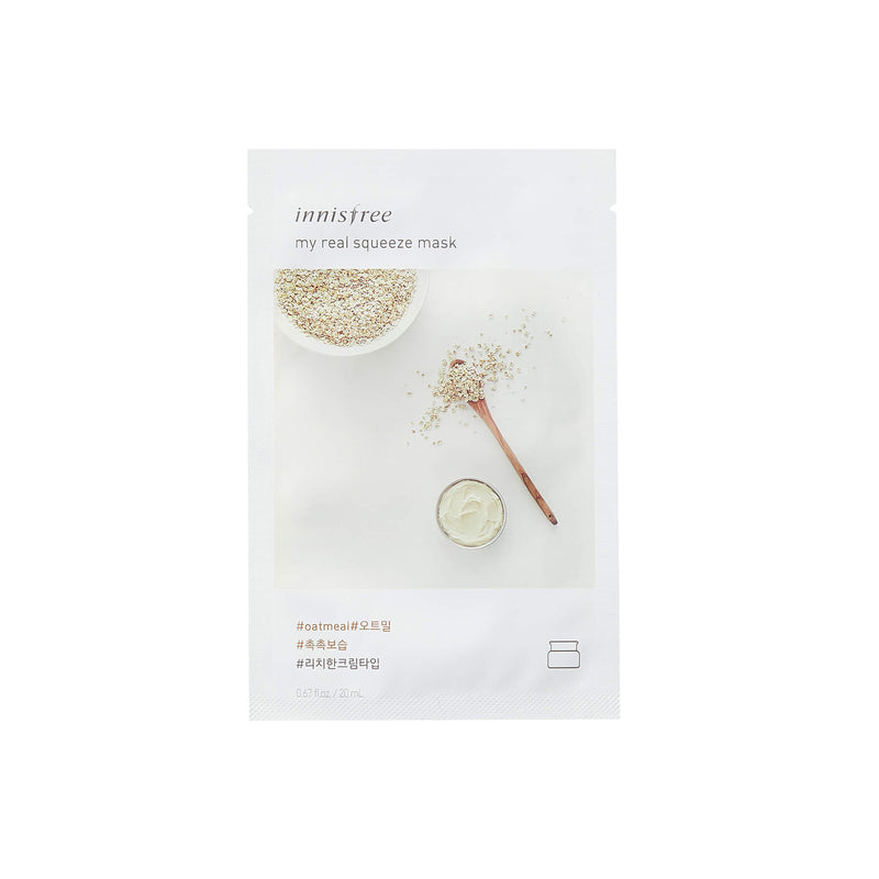 Innisfree My Real Squeeze Mask - Oatmeal - K Beauty World