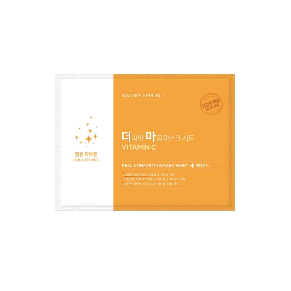 Nature Republic Real Comforting Mask Sheet - Vitamin C - K Beauty World