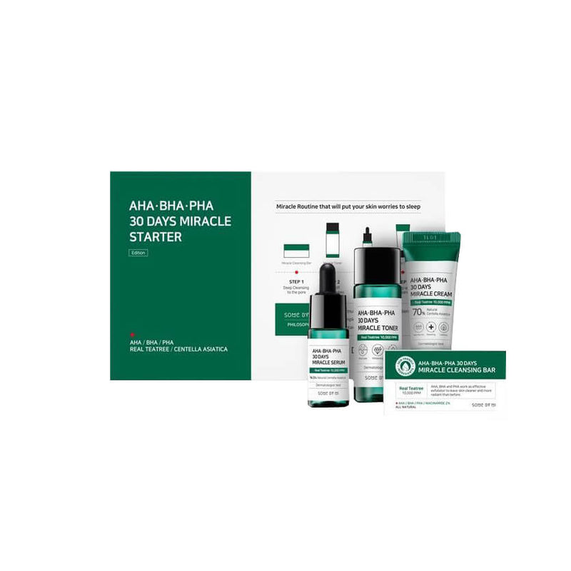 Some By Mi AHA BHA PHA 30 Days Miracle Starter Kit - K Beauty World