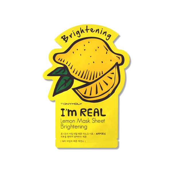 TonyMoly I'm Real Lemon Mask Sheet Brightening - K Beauty World