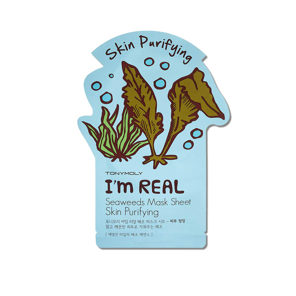 TonyMoly I'm Real Seaweeds Mask Sheet Skin Purifying - K Beauty World