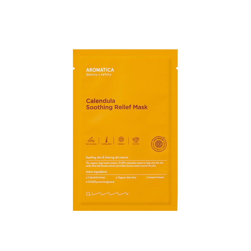 Aromatica Calendula Soothing Relief Mask (5 Pack) - K Beauty World