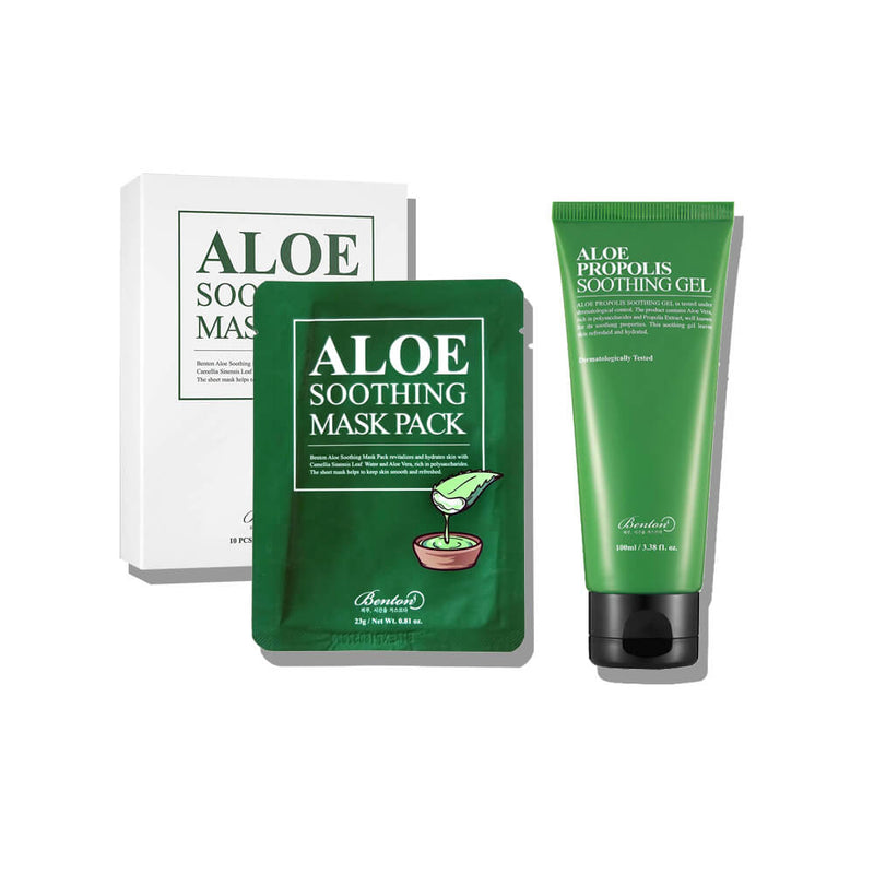 Benton Aloe Soothing Set (Mask & Gel) - K Beauty World