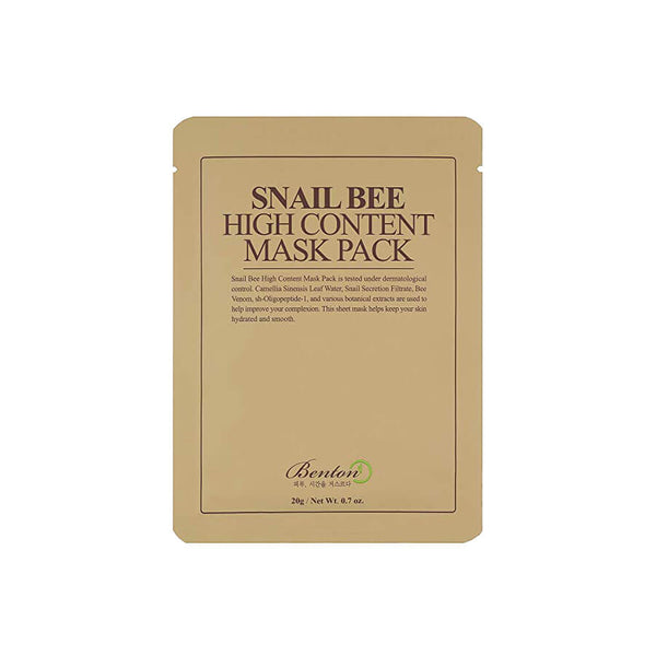 Benton Snail Bee High Content Mask Pack (10 Pack) - K Beauty World