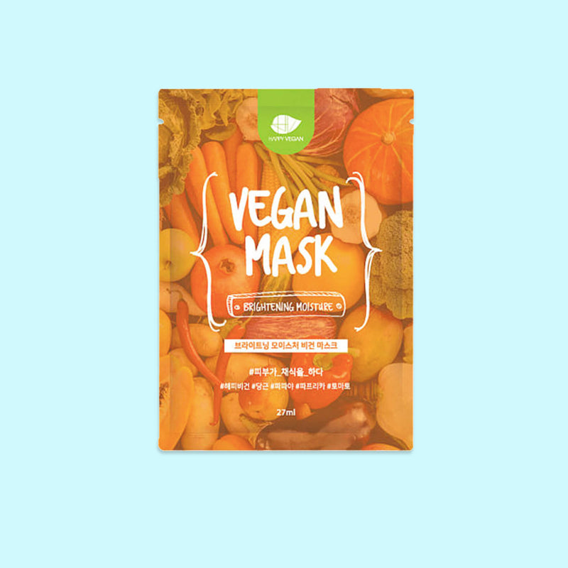 Happy Vegan Brightening Moisture Vegan Mask (5 Pack) - K Beauty World
