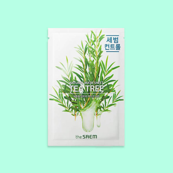 The SAEM Natural Tea Tree Mask Sheet - K Beauty World