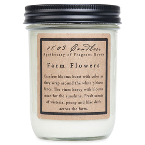 1803 Farm Flowers Soy Candle - Vintage Crossroads