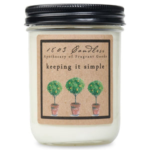 1803 Keeping It Simple Soy Candle - Vintage Crossroads